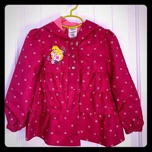 Disney Princess Aurora Girls Size 4 Hot Pink Coat!